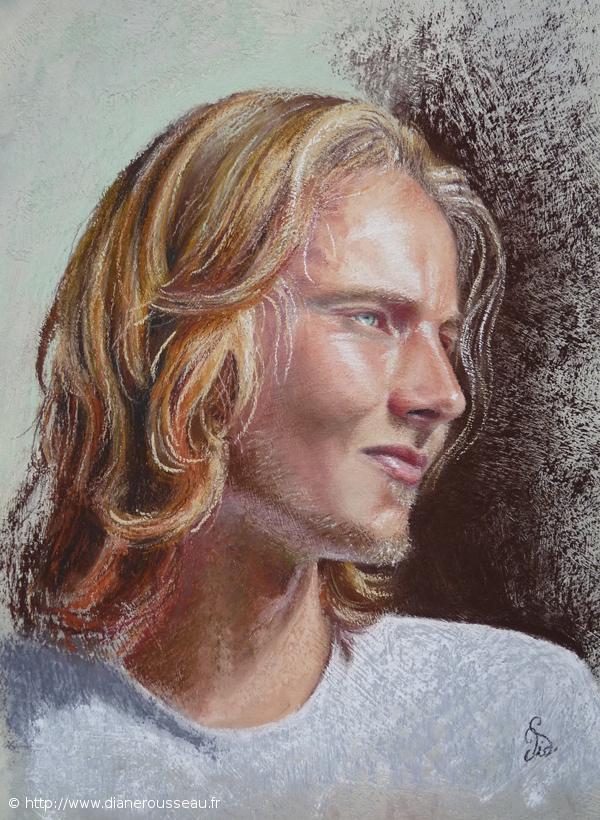 L'Angélique, Diane Rousseau, portrait pastel sec